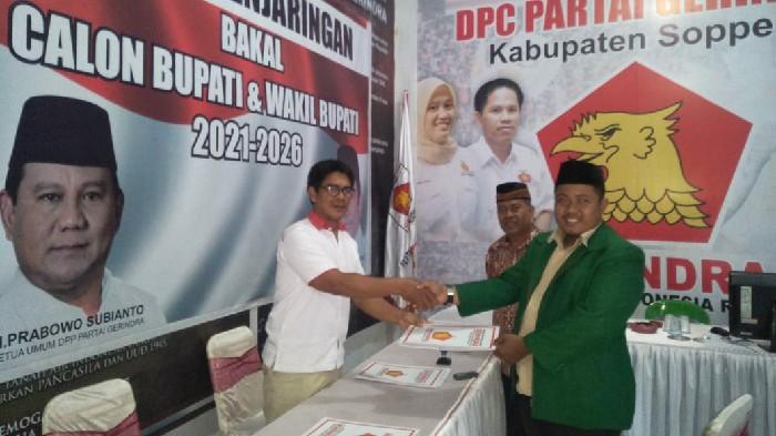 Maju di Pilkada, Wabup Soetomo Pendaftar Pertama di Gerindra Soppeng