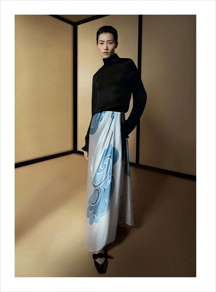 Discover Giorgio Armani's FW21 campaign featuring supermodel Liu Wen lensed by Leslie Zhang