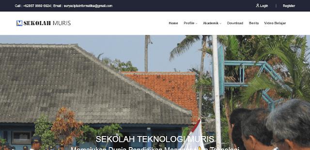 Web Profil Sekolah Keren Menggunakan CI