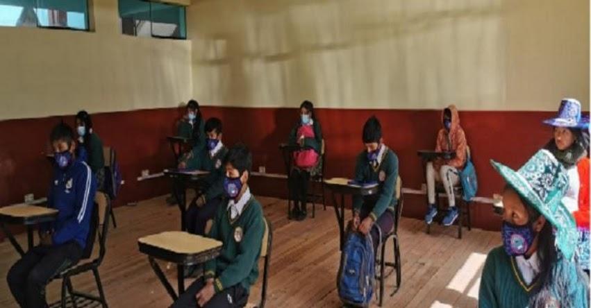 Cerca de 200 alumnos inician clases semipresenciales en comunidad de Antapalla en Cusco