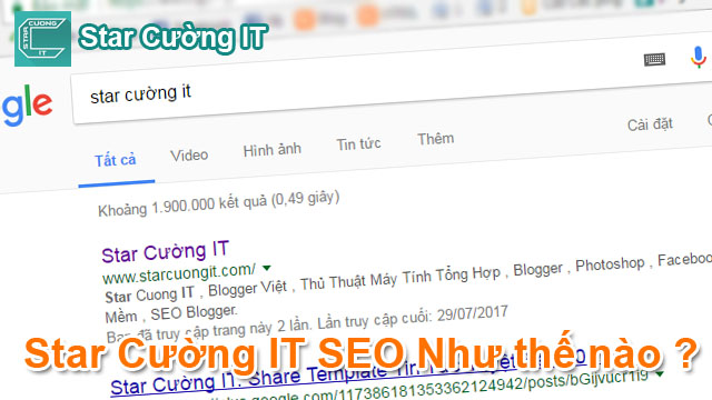Star Cường IT SEO Website như thế nào ?