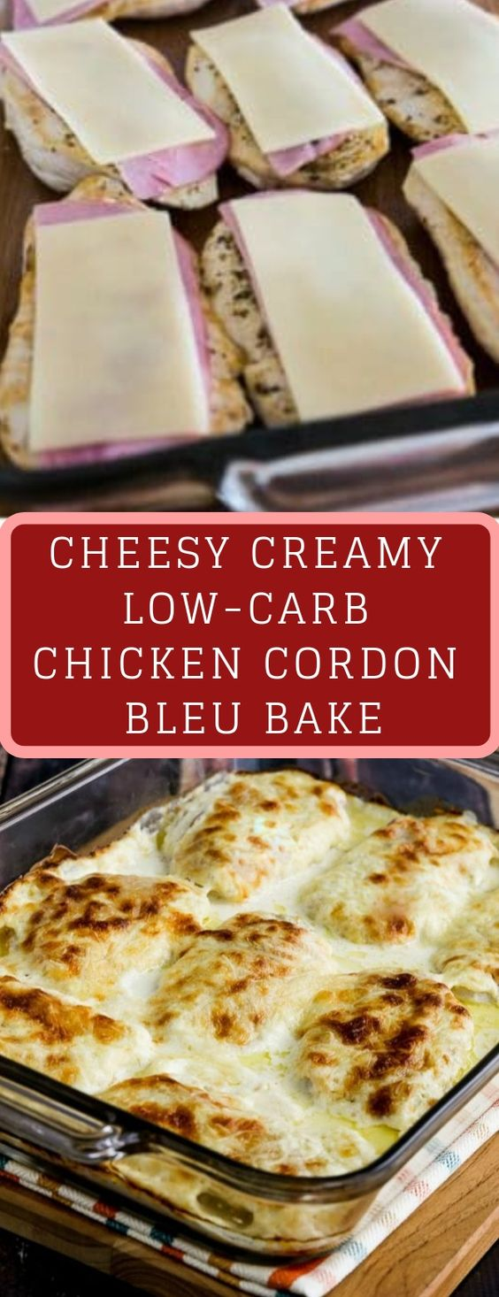 Cheesy Creamy Low-Carb Chicken Cordon Bleu Bake is so delicious that you definitely won't miss the breaded coating that's usually found on Chicken Cordon Bleu. And this recipe is also Keto, low-glycemic, and gluten-free! Use the Diet-Type Index to find more recipes like this one!