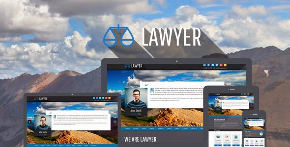 responsive laywer website template