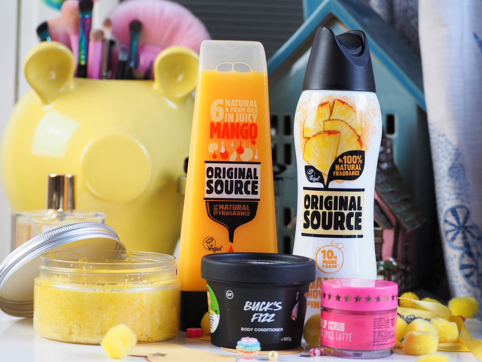 The Best Smelling Body Products, original source, scrub, happyplace cosmetics.