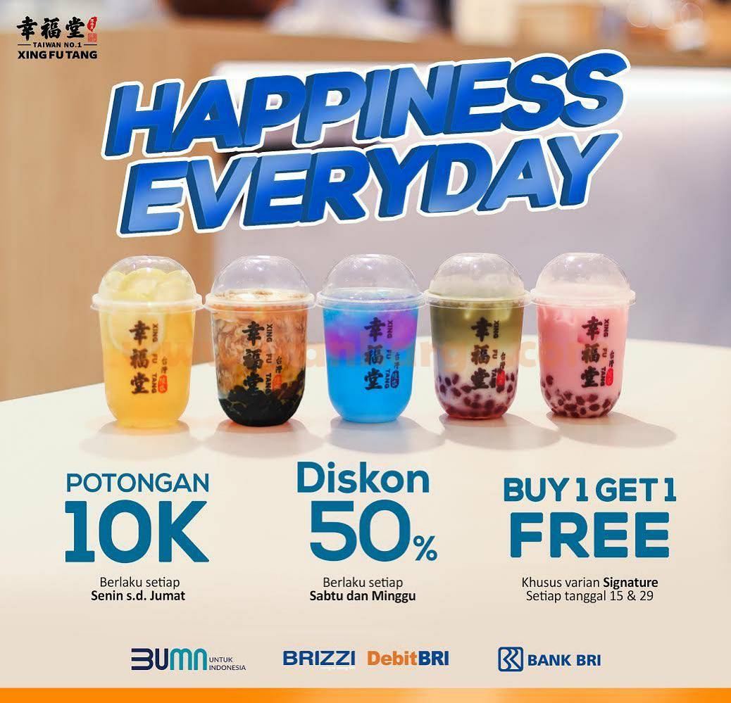 Xing Fu Tang Promo Happiness Everyday dengan Debit BRI & BRIZZI