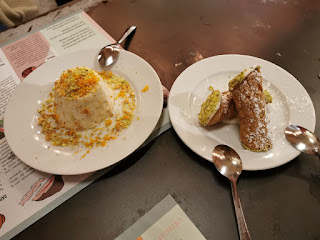 Cannoli sicilianos y Biancomangiare