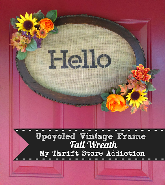 upcycled frame wreath
