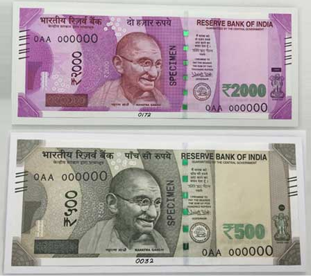 government bans Rs.500 and Rs.1000 notes new Rs.500 and Rs.2000 notes will be rolled out soon