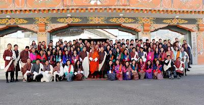 Young Bhutanese Entrepreneurs with Lyonpo Lok Nath