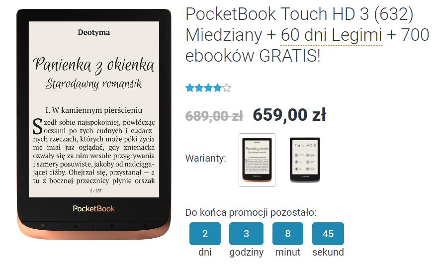 PocketBook Touch HD 3 miedziany na czytio.pl