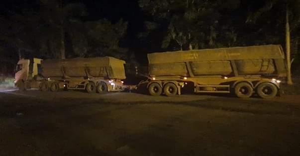 Pebão:Em Marabá, a PRF apreende 105 toneladas de minério transportado ilegalmente.