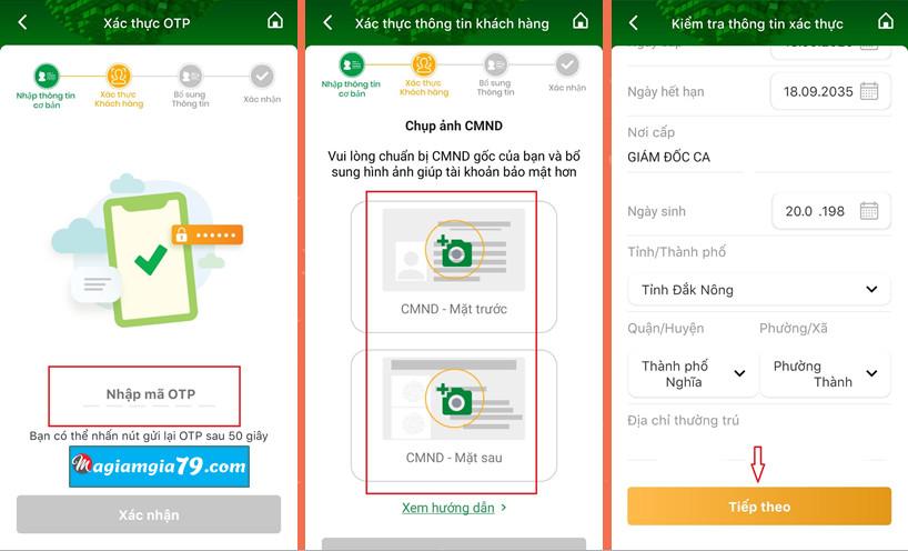 Hướng dẫn đăng ký app Ngân hàng OCB