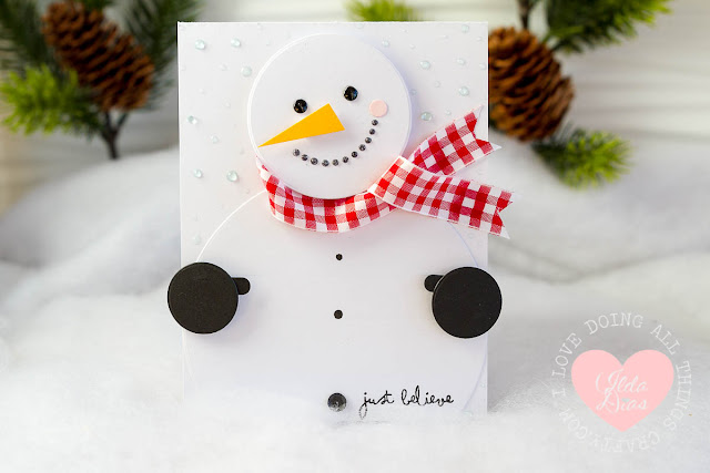 Easy to Make Snowman Gift Card Holder