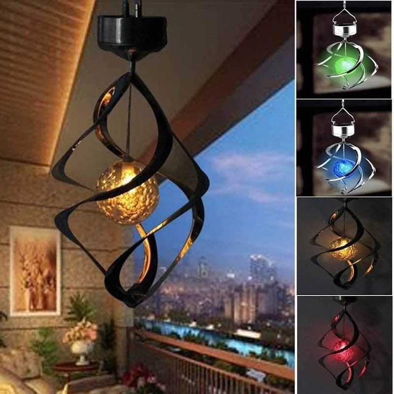 55% OFF Solar Wind Chimes_Light Spiral Spinner Wind_Light LED Color Changing Solar Hanging_Light for Garden Patio Yard Lawn Balcony Porch Decorations