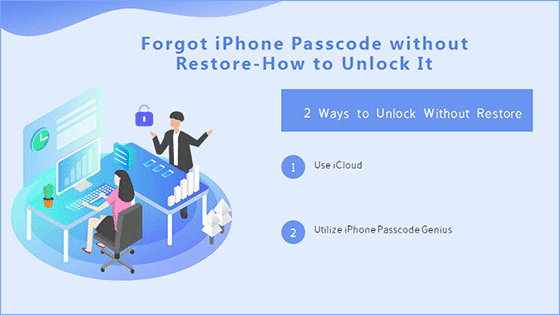 forgot iPhone passcode without restore how to unlock it