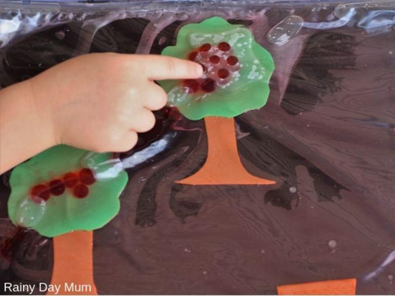 apple tree sensory bag activity