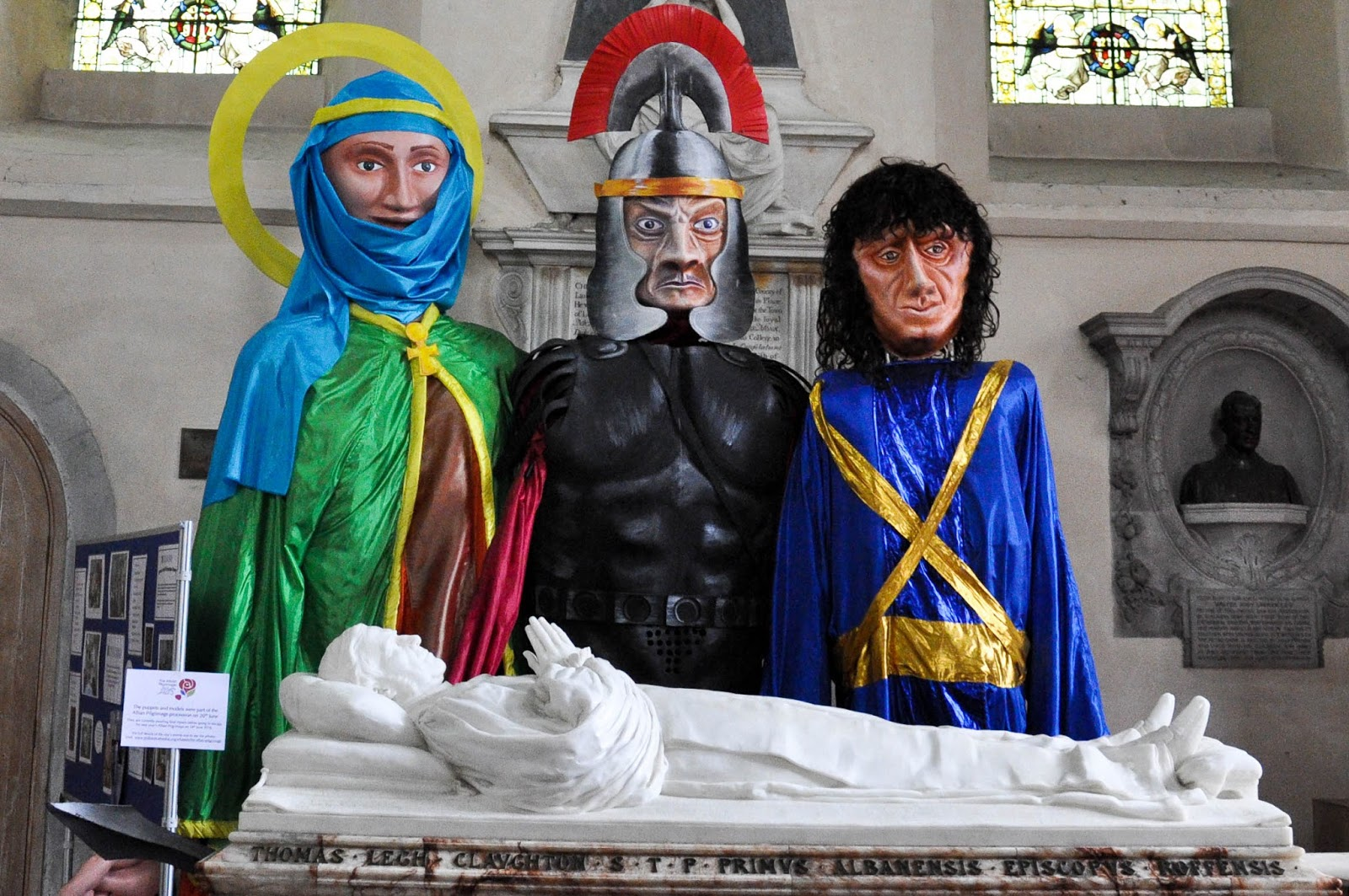 The Alban Pilgrimage, Historical figures, St. Albans Cathedral, St. Albans, Herts, England