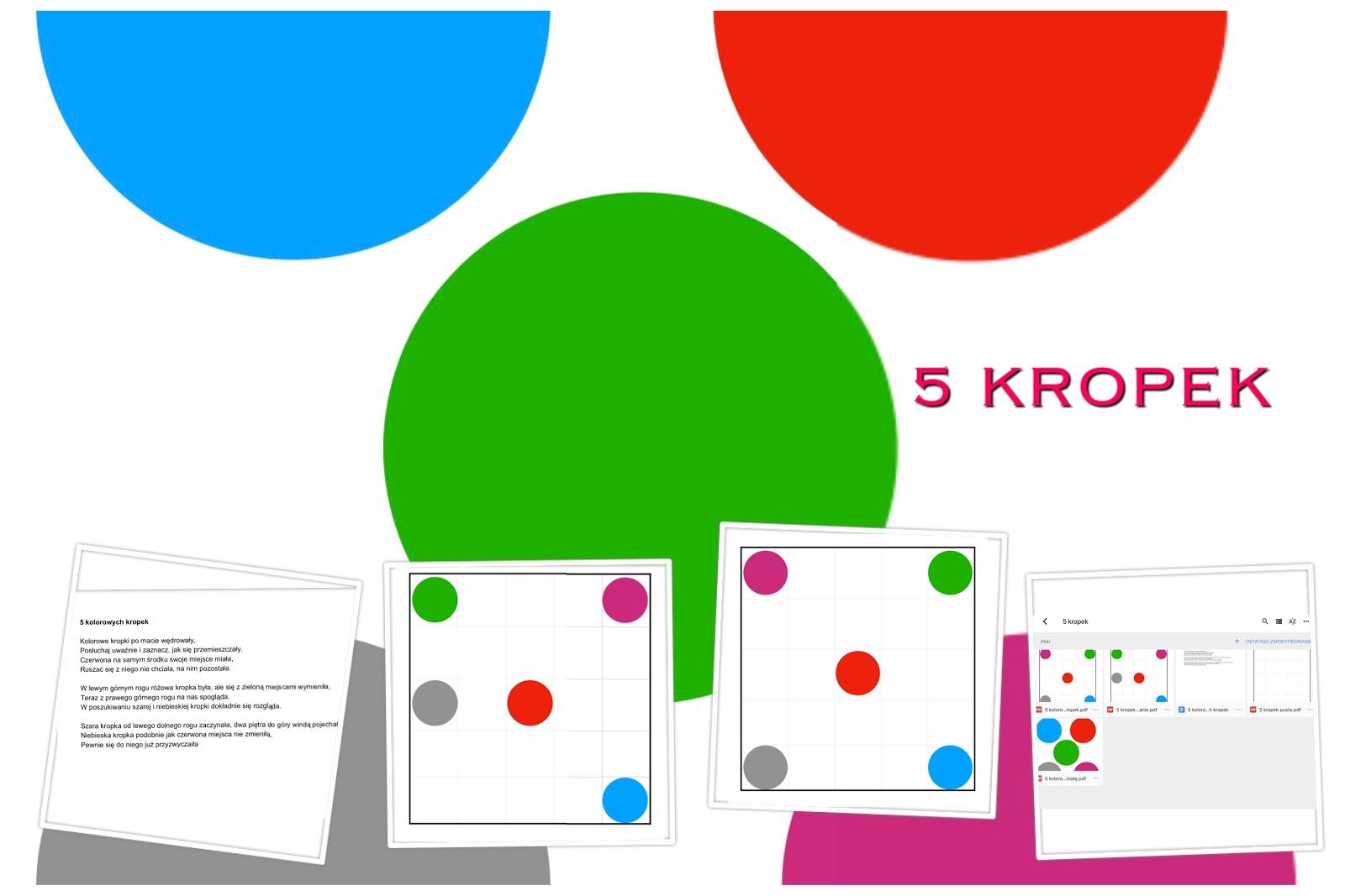5 Kolorowych Kropek Kodowanie Na Dywanie