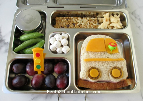 Car lunch in a stainless steel Planetbox