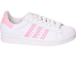 ad24d28e1 Roupa pra que te quero...: Tenis Adidas Star rosa com branco