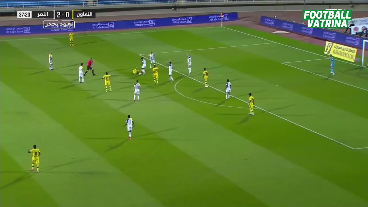 مشاهدة ملخص مباراة التعاون 1-4 النصر بتاريخ 2020-08-20 الدوري السعودي