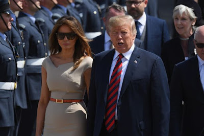 Donald Trump & Wife arrive for historic UK visit - Image ~ Naijabang