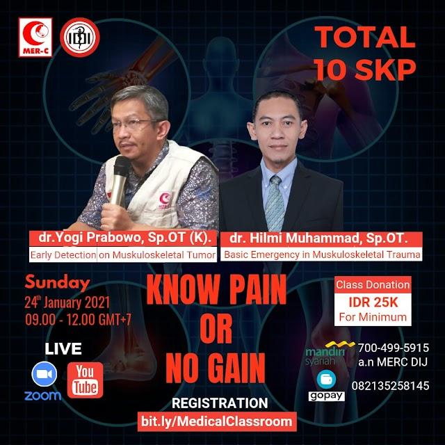 *Medical Charity Classroom* (Total 10 SKP IDI) Bersama *dr. Yogi Prabowo Sp.OT(K)* dan *dr. Hilmi Muhammad, Sp.OT*