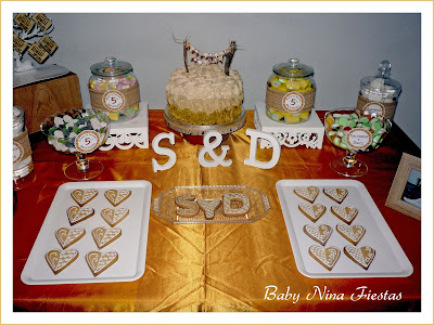 mesa dulce bodas de madera