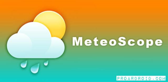 تطبيق MeteoScope v2.1.4 لمتابعة الطقس و الأحوال الجوية كامل للأندرويد مجاناً logo