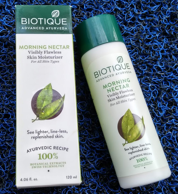 Biotique Advanced Ayurveda Morning Nectar Visibly Flawless Skin Moisturizer Review