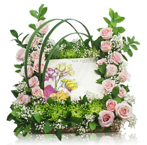 rangkaian-kue-harvest-mawar-pink