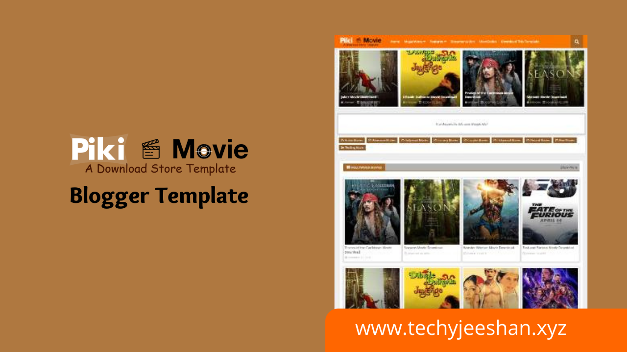 piki movie blogger template