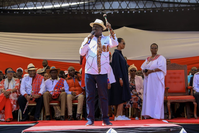 ODM leader Raila Odinga at Nairibi hospital