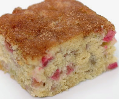 Recip of Cake with Rhubarb