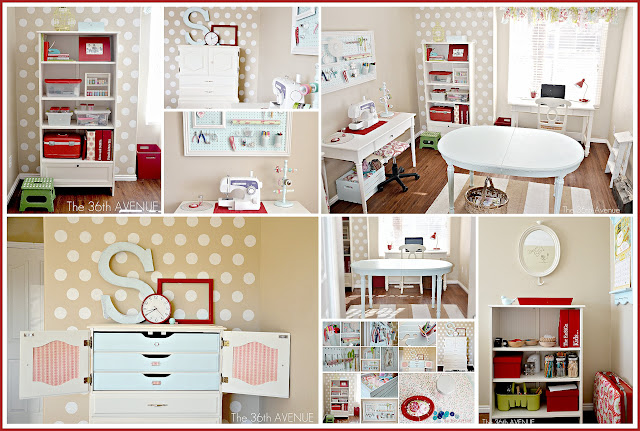 Craft Room Makeover and organization ideas at the36thavenue.com