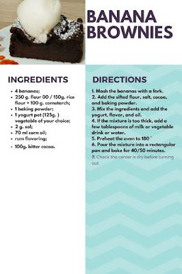 banana brownies vegan recipe