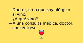doctor creo que soy alérgico al vino