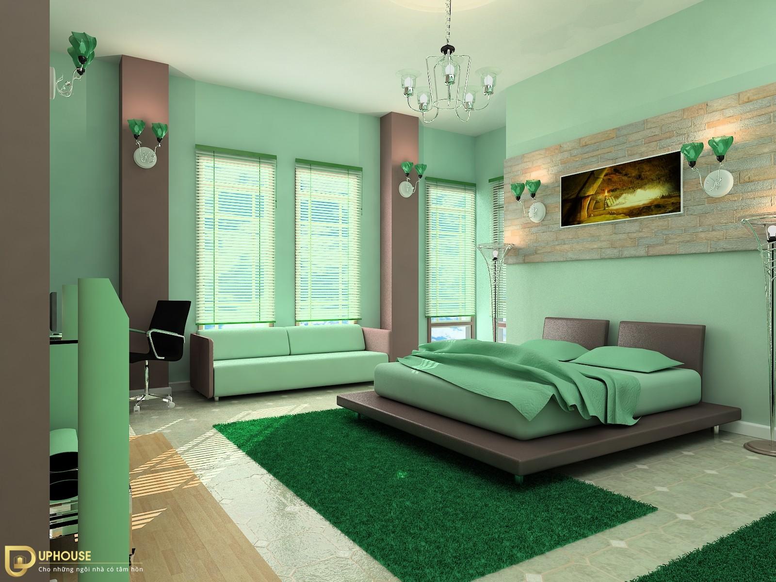 Màu sơn phòng ngủ mệnh Hỏa 10