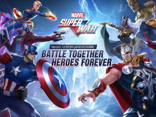 game android terbaik pertempuran superhero marvel moba online multiplayer