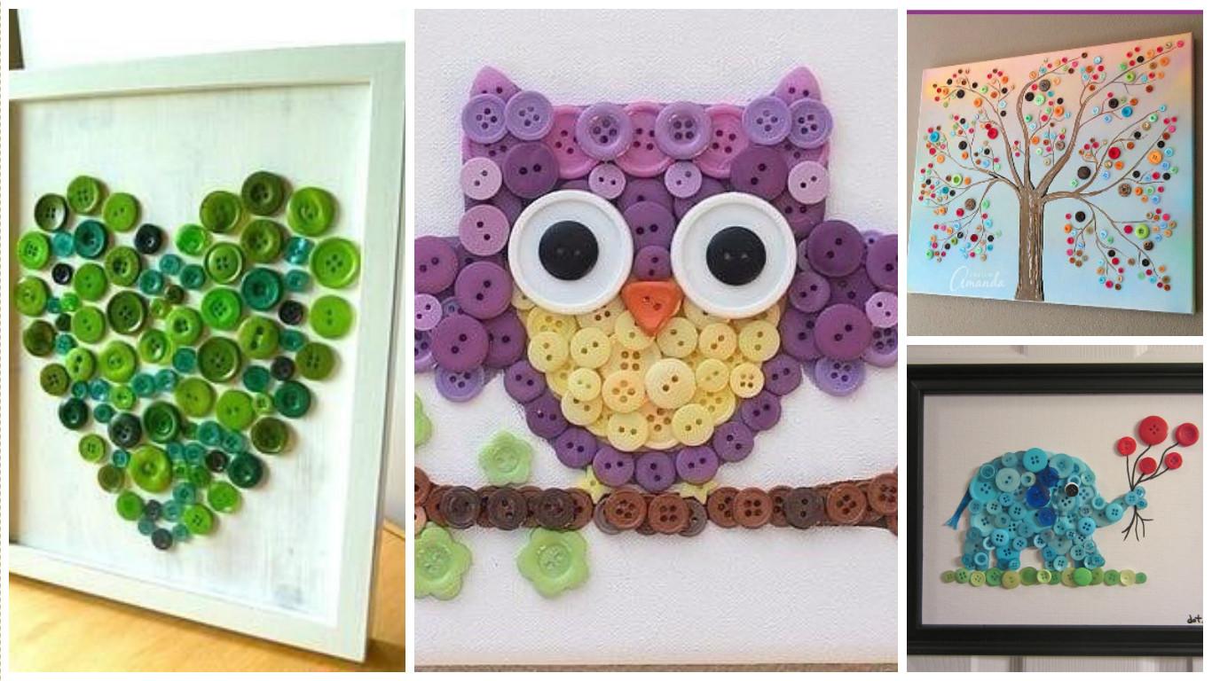 Aprende c mo hacer cuadros decorativos con botones de - Hacer cuadros decorativos ...