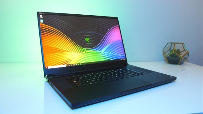 The Razer Blade Pro 17 gaming laptop has 17.3-inch FHD display. It refreshes at 240Hz and has no G-Sync available. It's shine and has good viewing angles. thanks to its IPS panel.