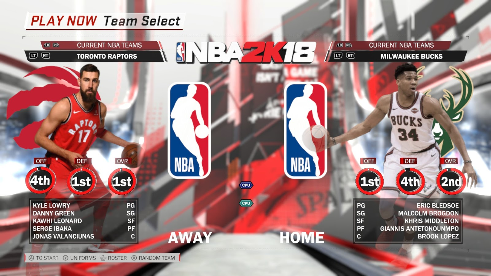 Top 10 NBA 2k18 Teams in v4 3 Rosters