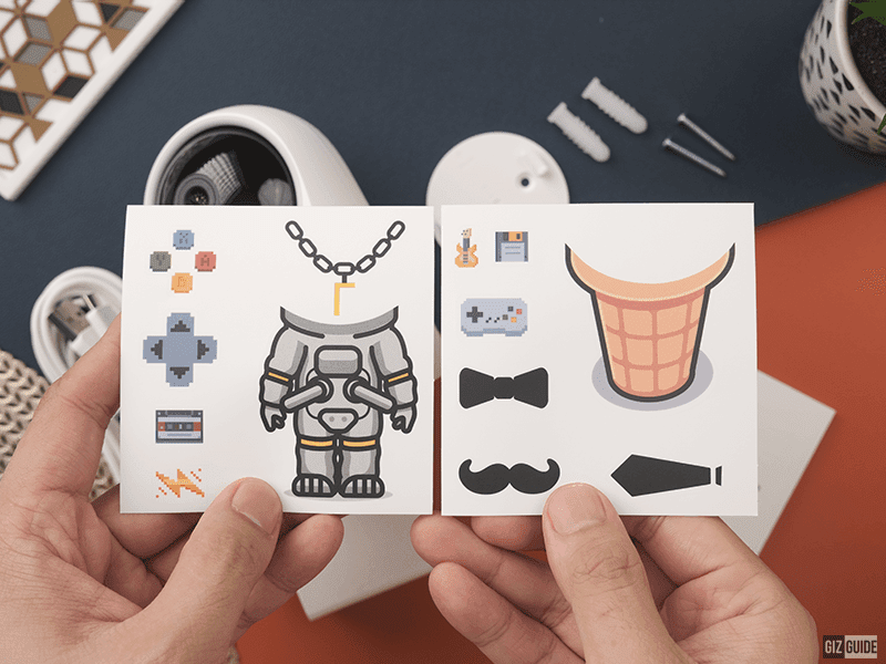 Cute stickers are included in the package to decorate the camera
