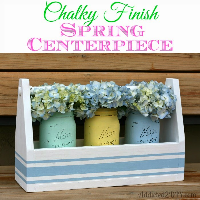 Spring Centerpiece in a chalky finish.