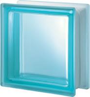 verre Aquamarine lisse satiné une face