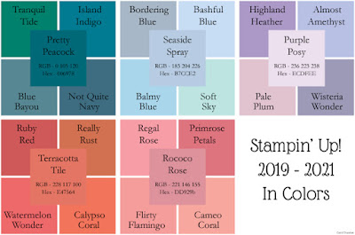 Stampin' Up! 2019-2021 In Colors compared to other Stampin' Up! colours