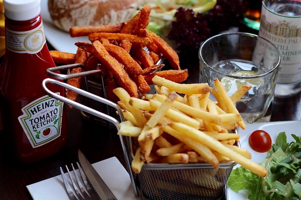 Haché Burger sides potato fries