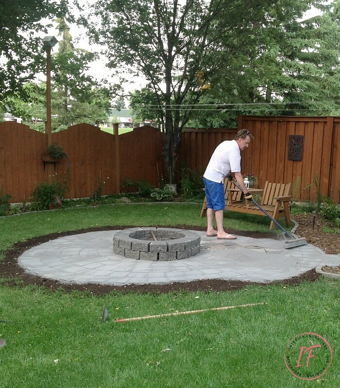 Woodburning Backyard Fire Pit Refresh With Roman Pavers Interior Frugalista