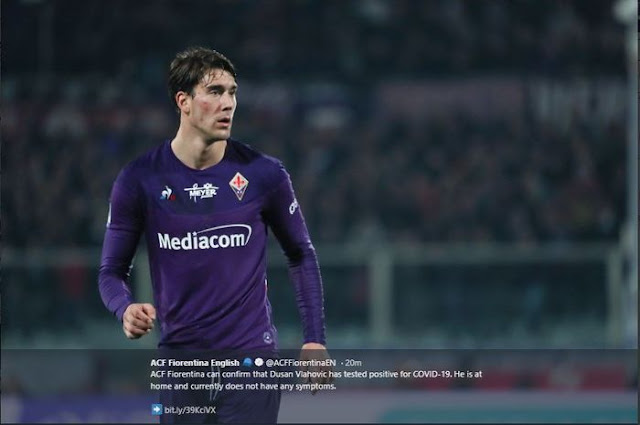 Having contracted Corona Virus, Fiorentina striker confides in early symptoms