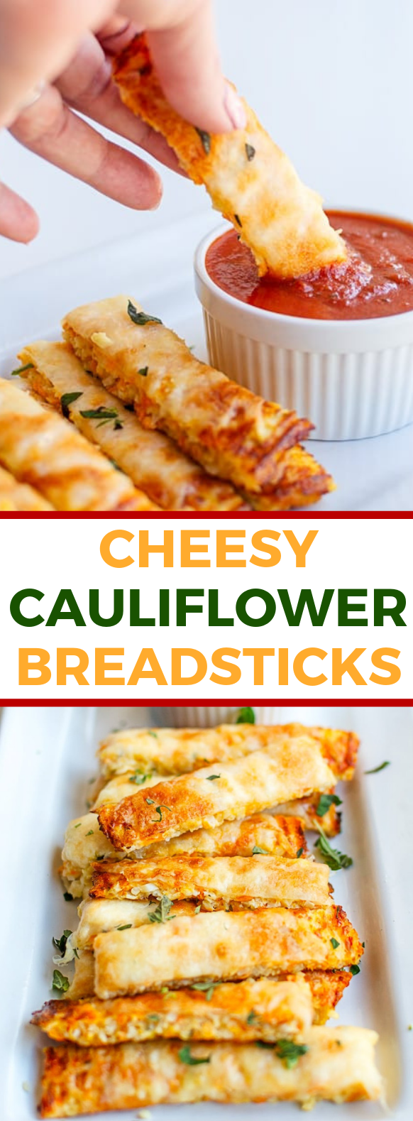 HOW TO MAKE THESE 3 INGREDIENT CHEESY CAULIFLOWER BREADSTICKS #healthydiet #lowcarb